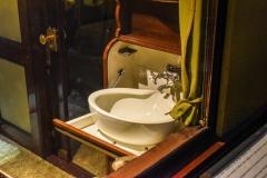 Die Badezimmer des Salonwagens S1. (Foto: Andreas Lerg)
